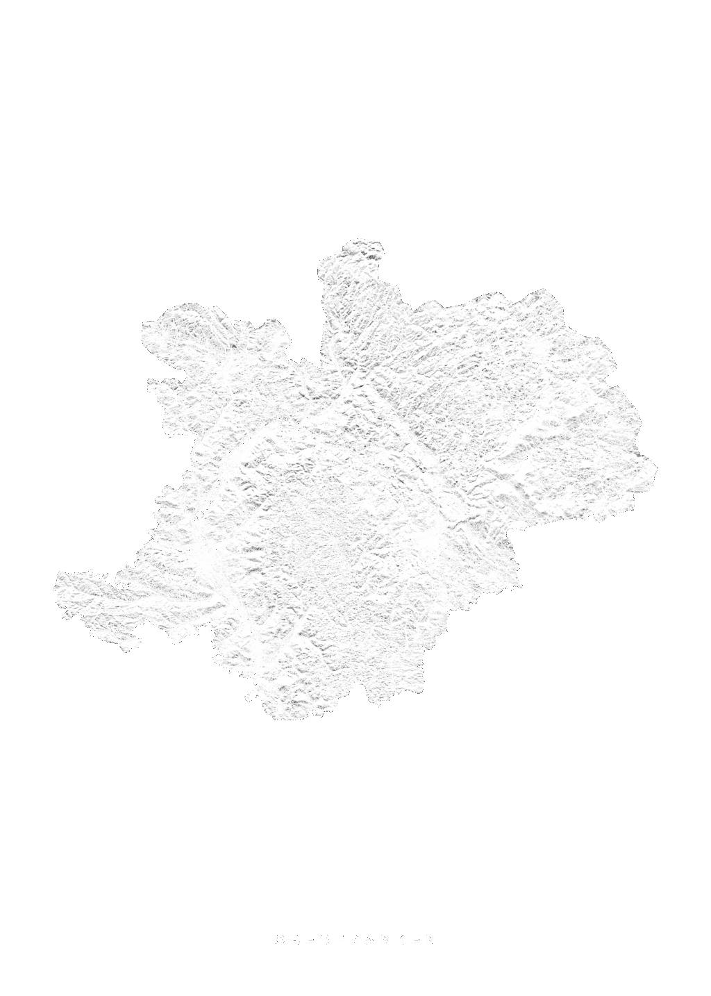 Oberfranken wall map