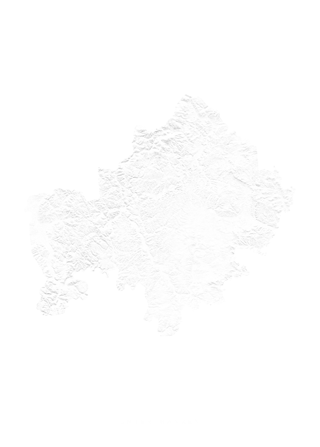 Unterfranken wall map