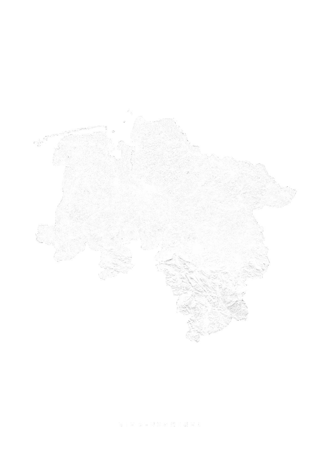 Niedersachsen wall map