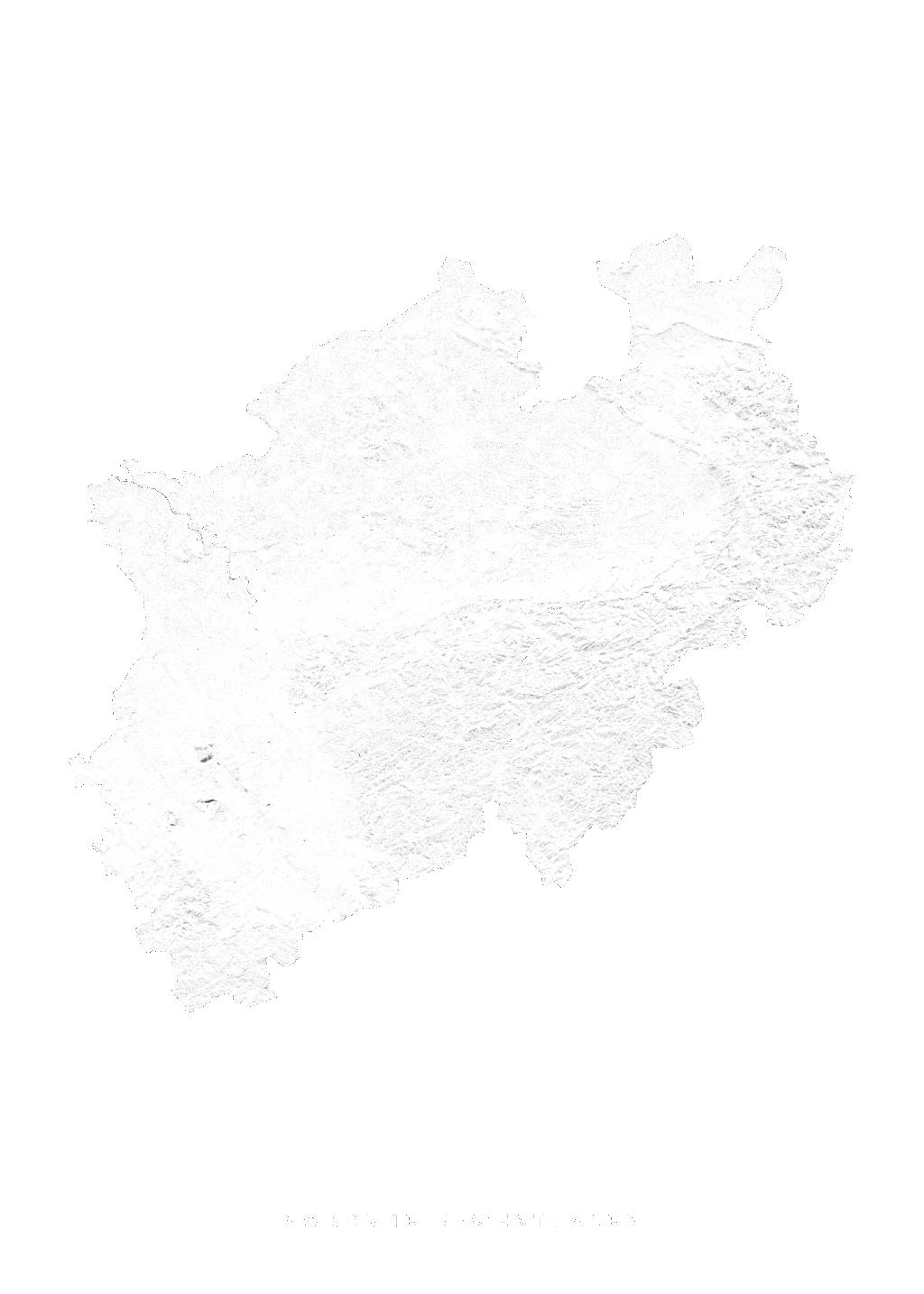 Nordrhein Westfalen wall map