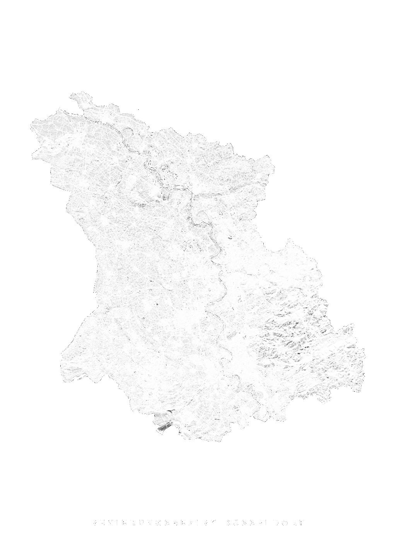 Regierungsbezirk DÜsseldorf wall map