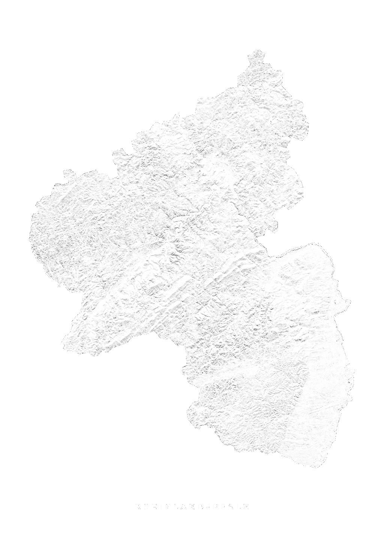 Rheinland Pfalz wall map
