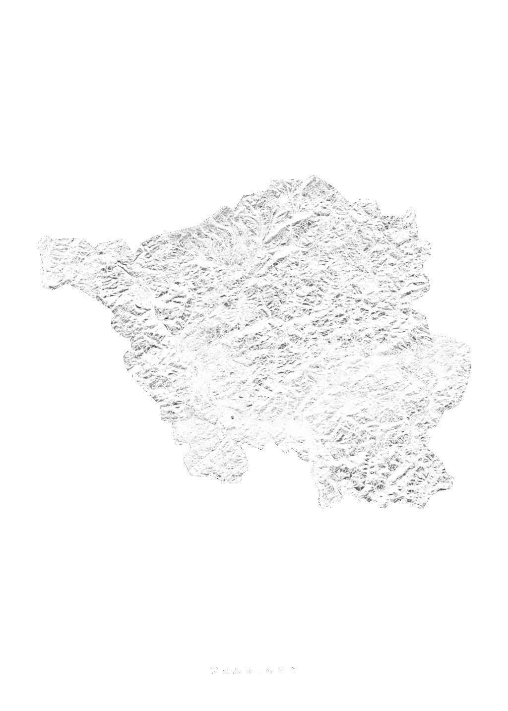 Saarland wall map