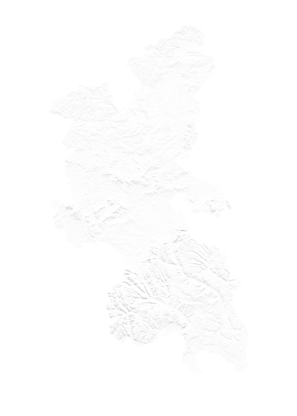 Buckinghamshire wall map