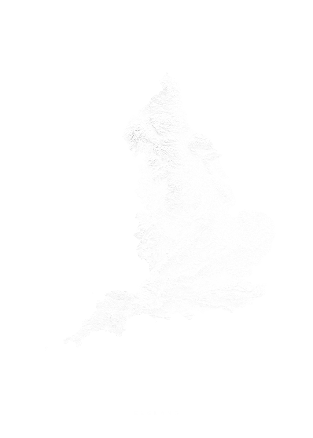 England wall map