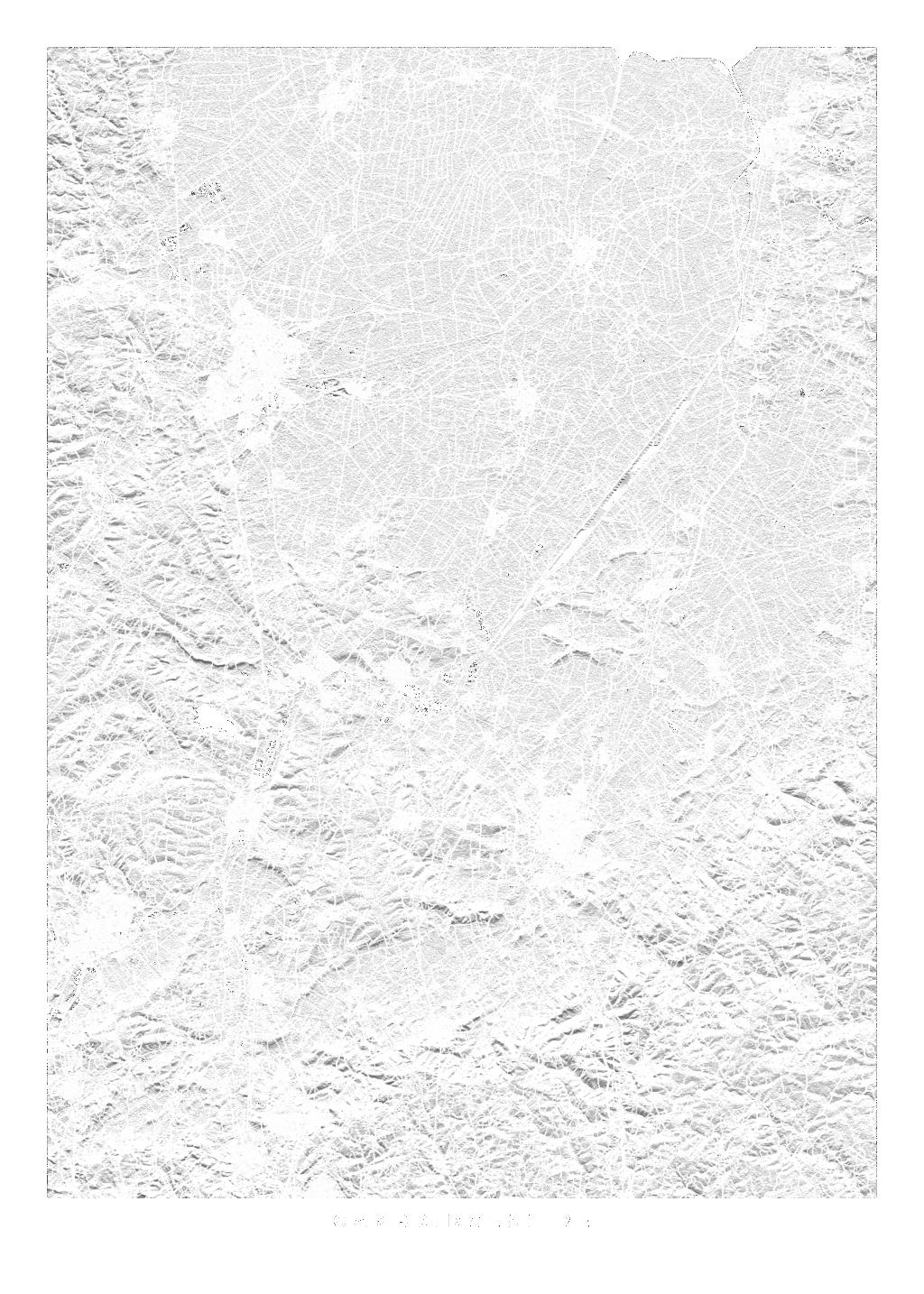 Cambridgeshire wall map