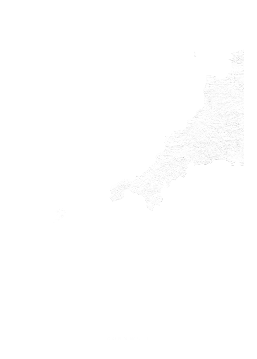 Cornwall wall map