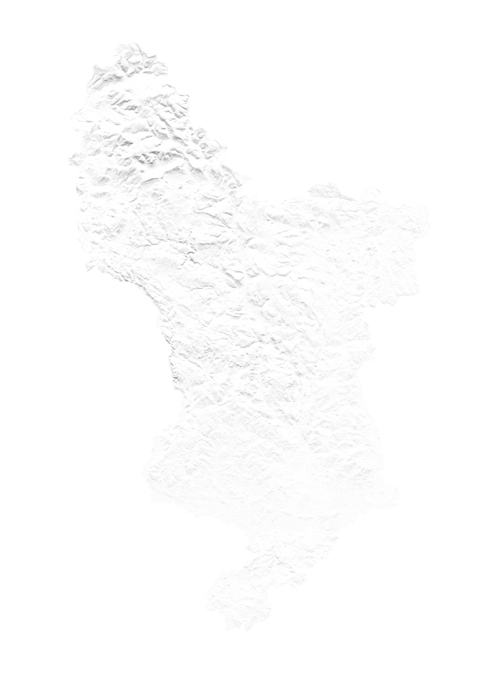 Derbyshire wall map