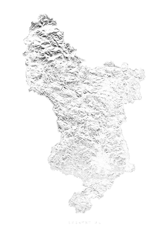 Derbyshire wall map