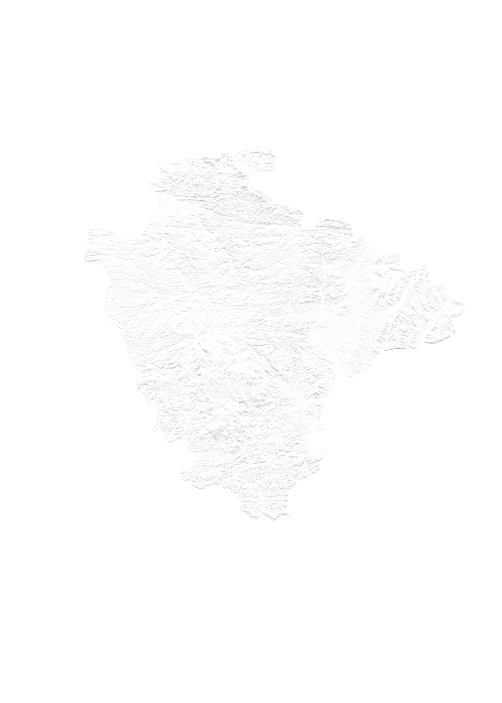 Devon wall map