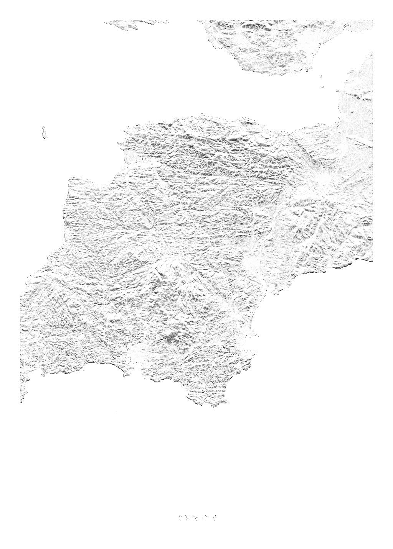 Devon wall map
