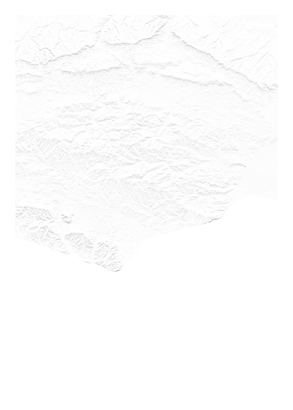 East Sussex wall map