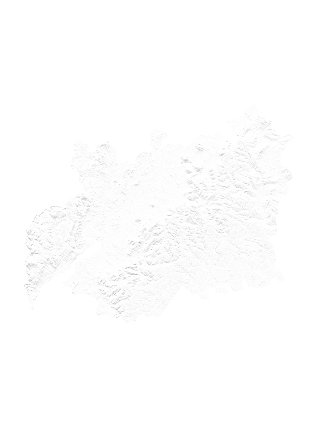 Gloucestershire wall map