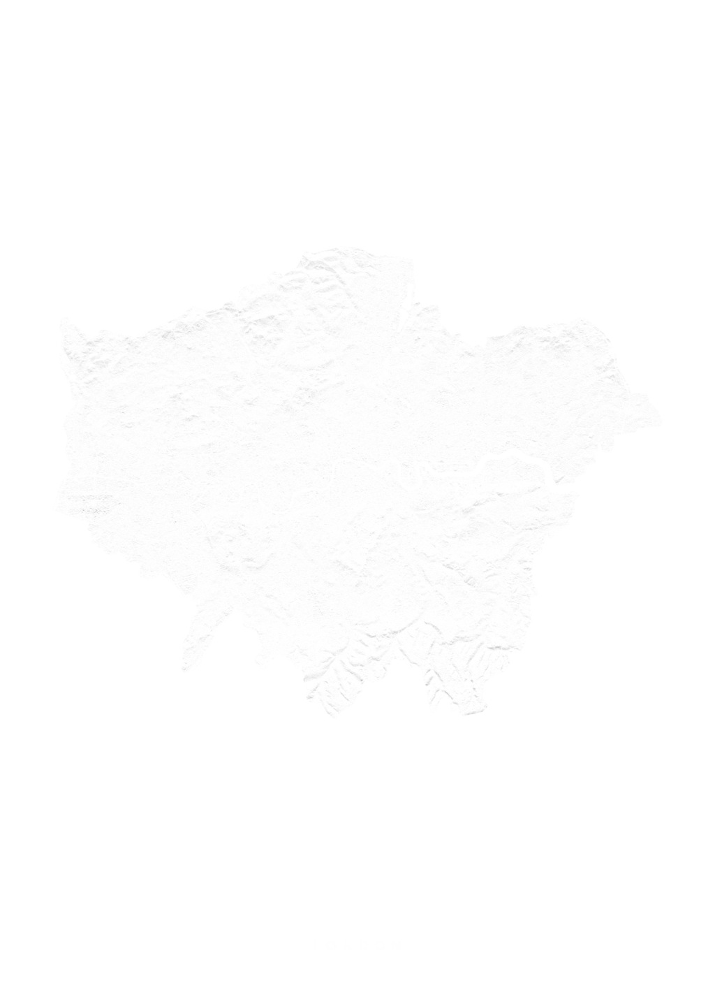 Greater London wall map