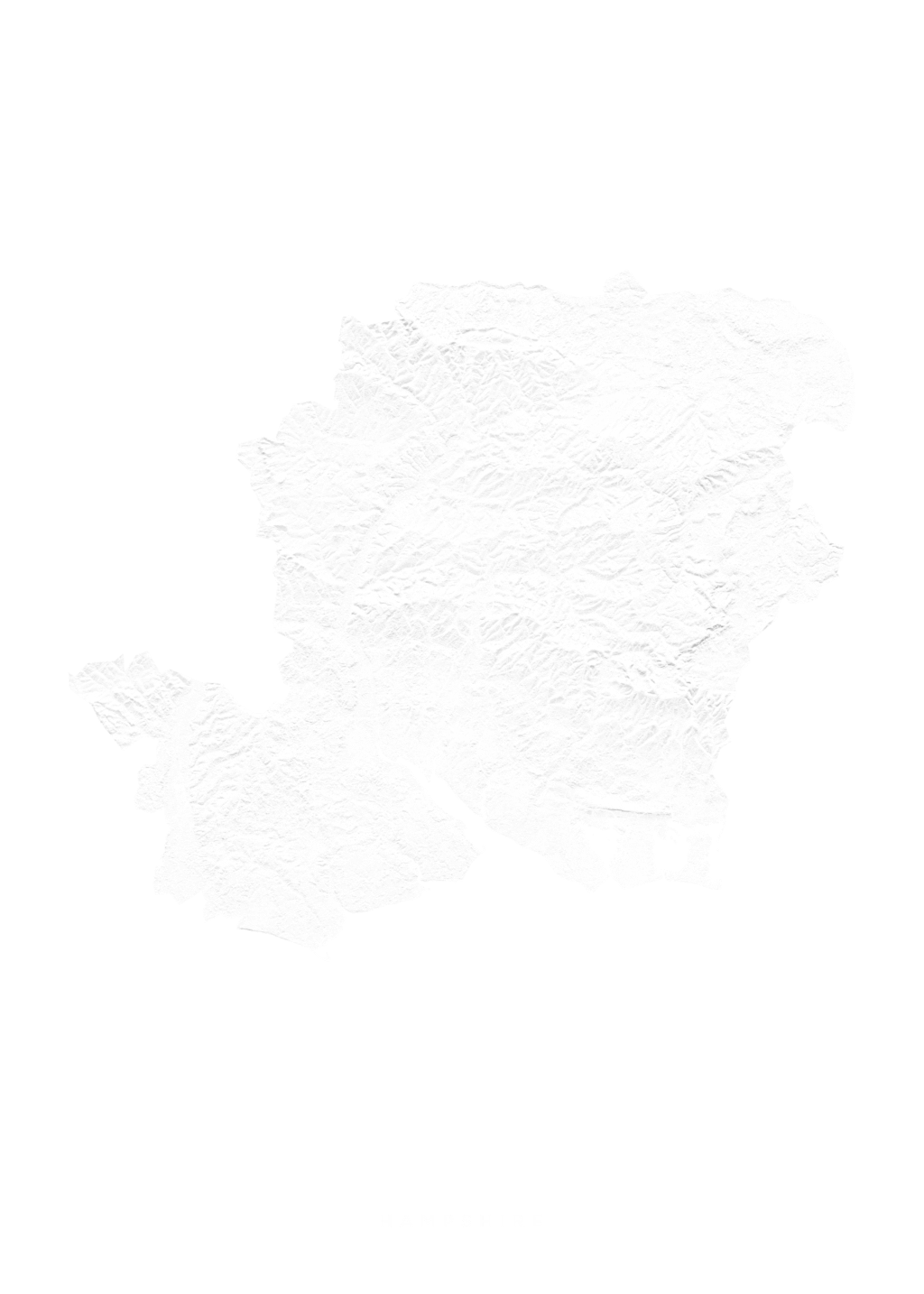 Hampshire wall map