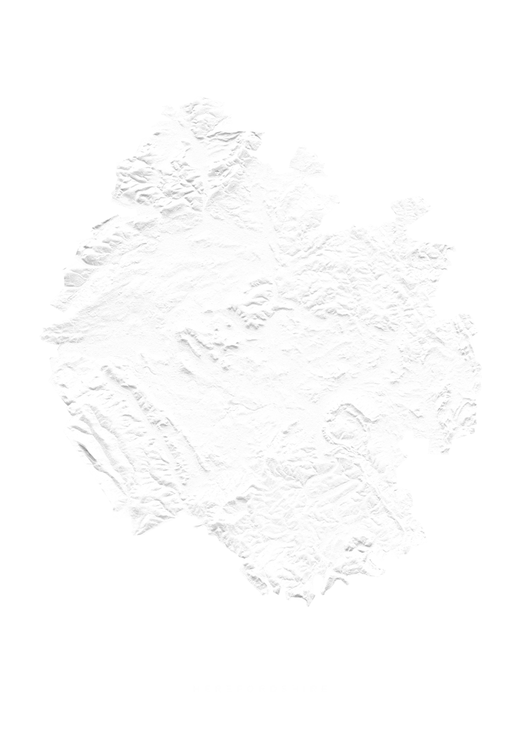 Herefordshire wall map
