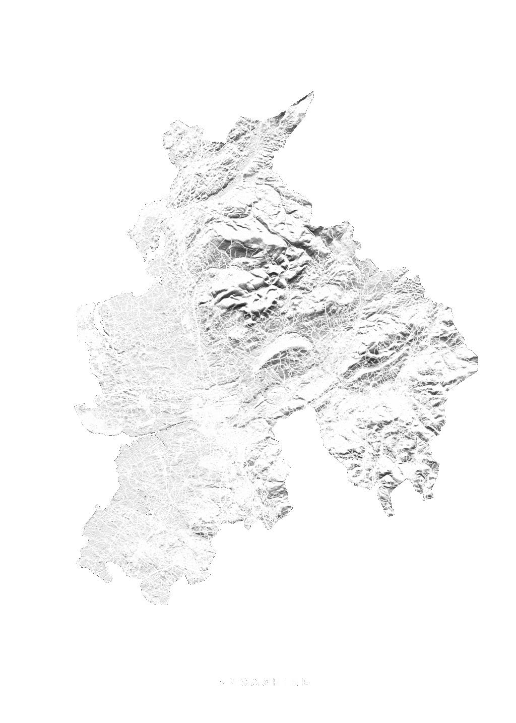 Lancashire wall map
