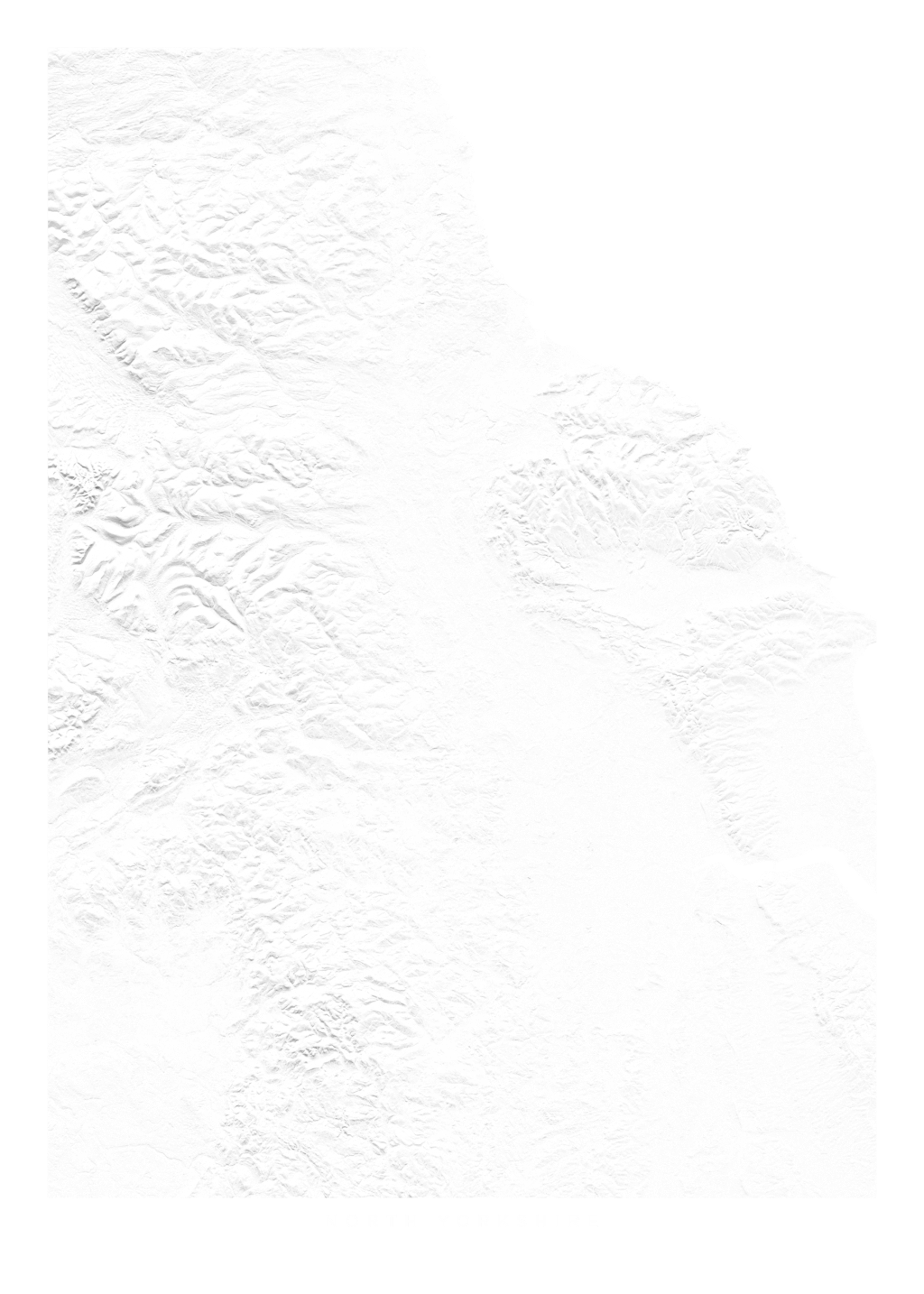 North Yorkshire wall map