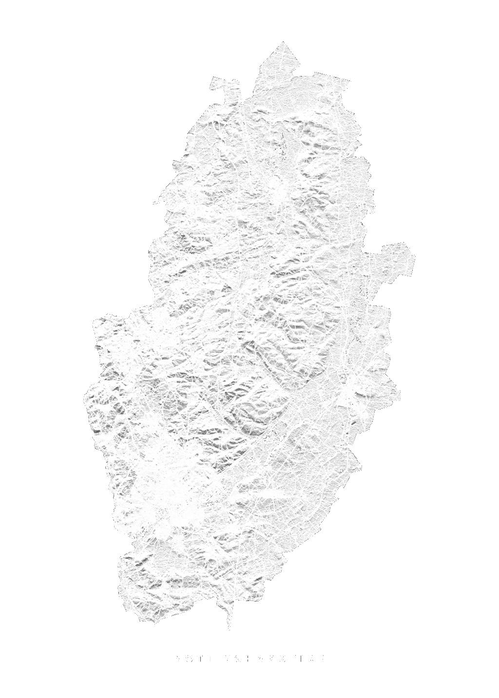 Nottinghamshire wall map