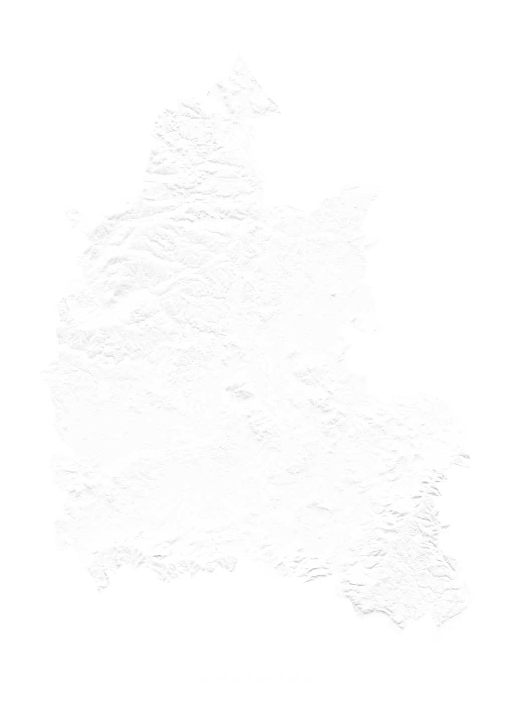 Oxfordshire wall map
