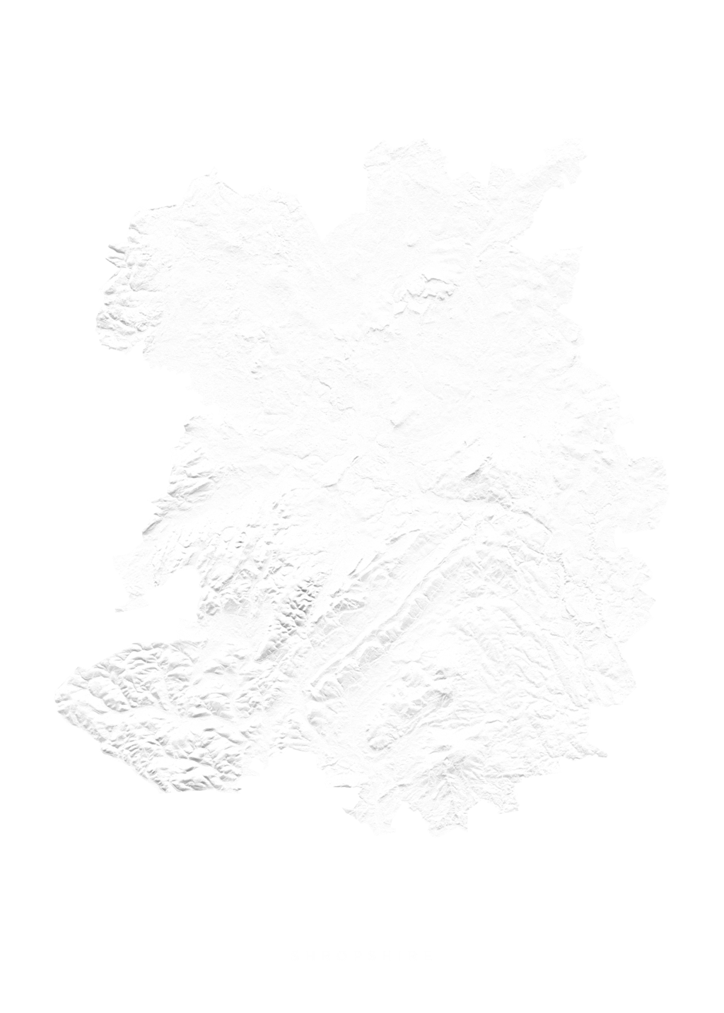 Shropshire wall map