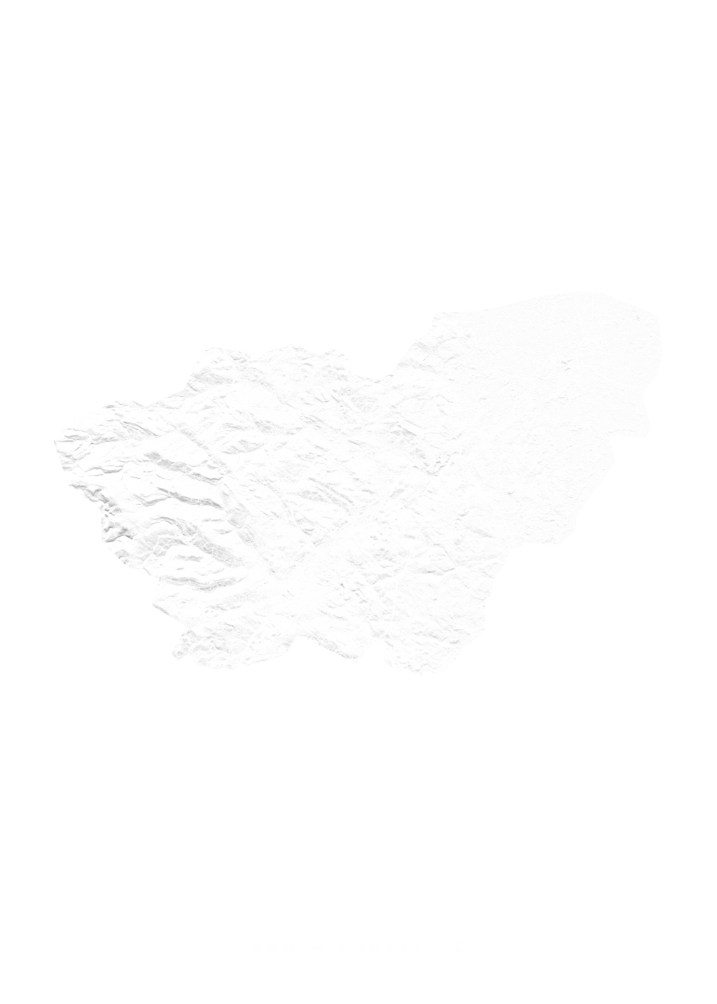 South Yorkshire wall map