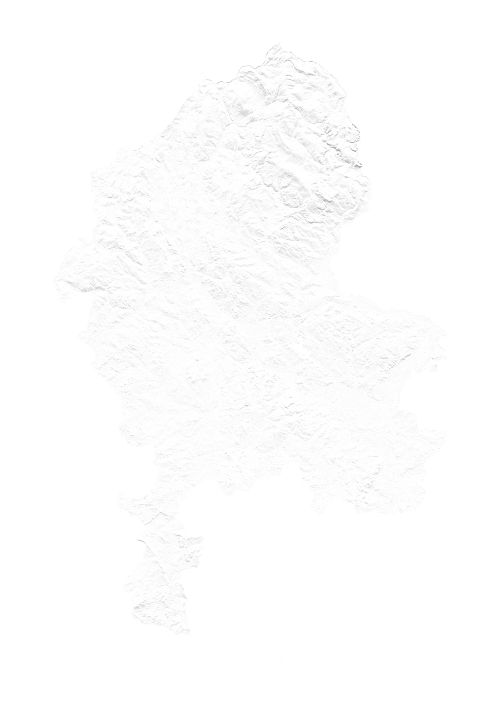 Staffordshire wall map