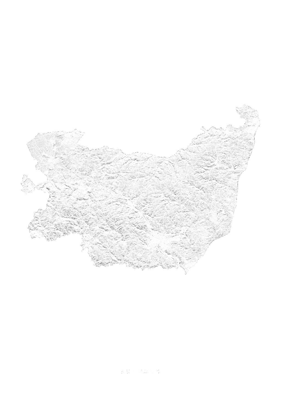 Suffolk wall map