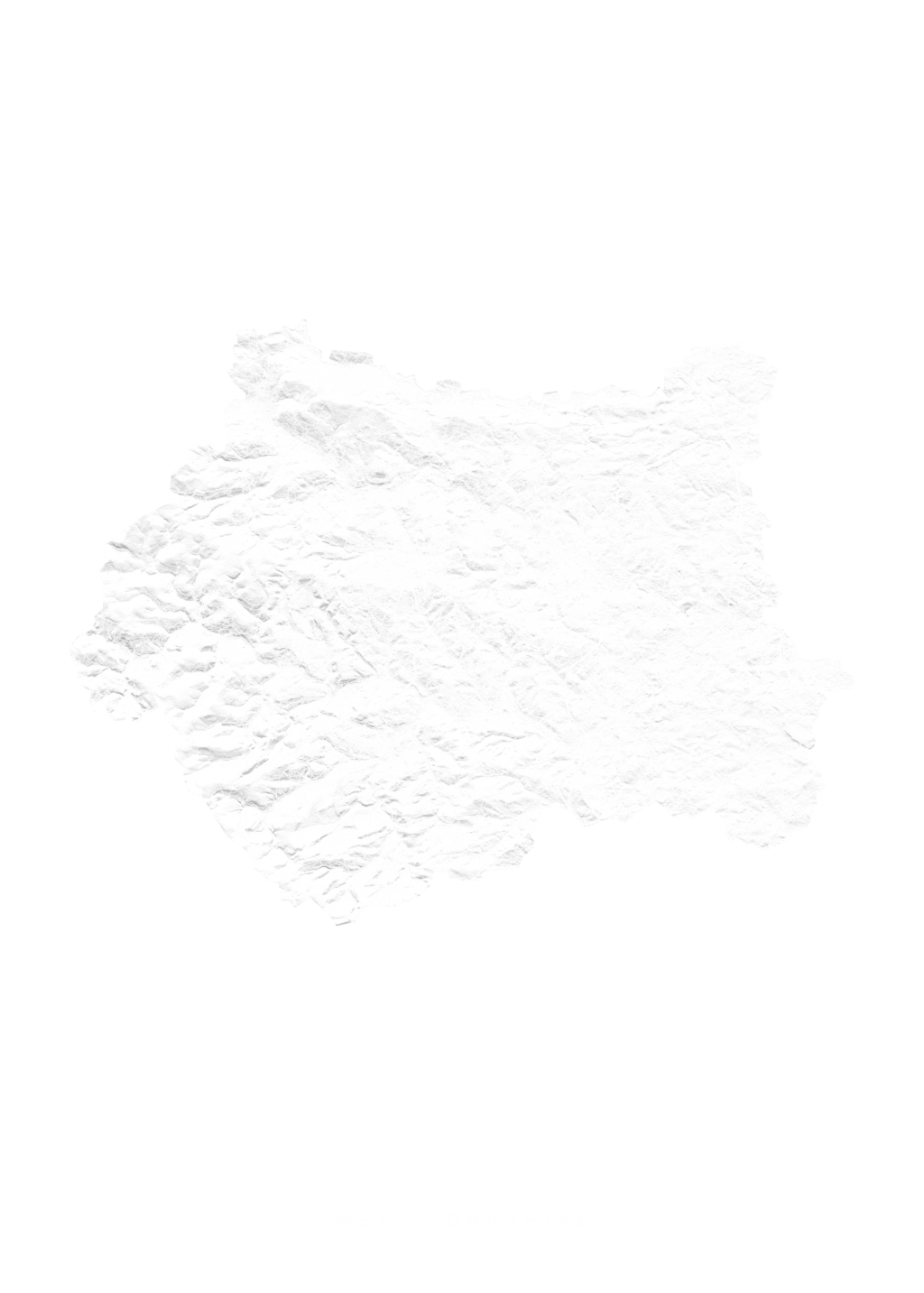West Yorkshire wall map