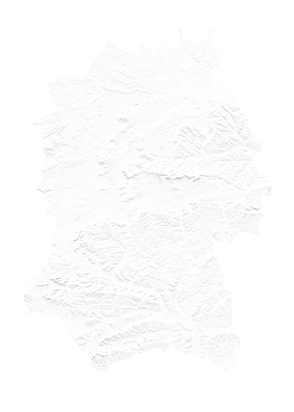 Wiltshire wall map