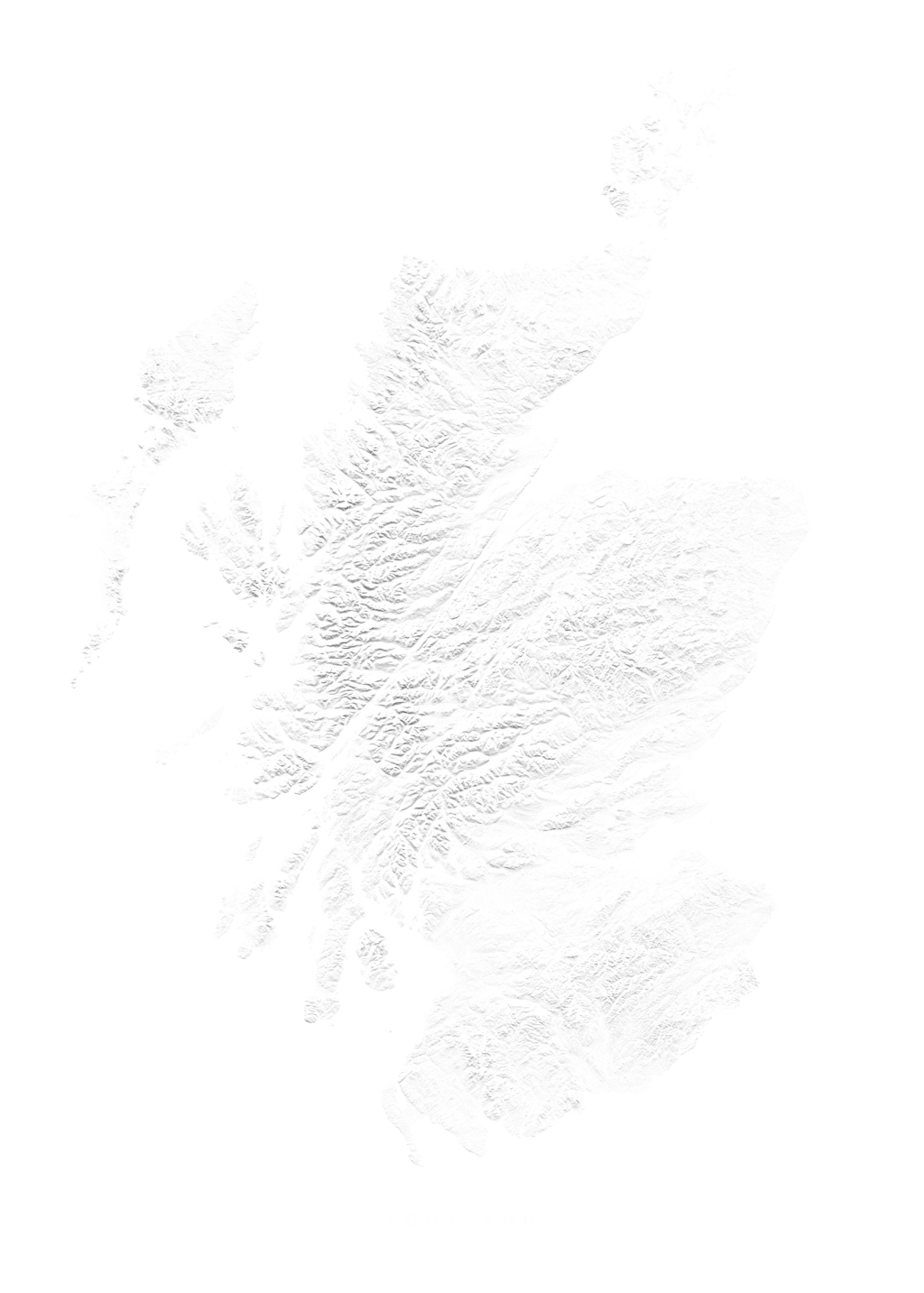Scotland wall map
