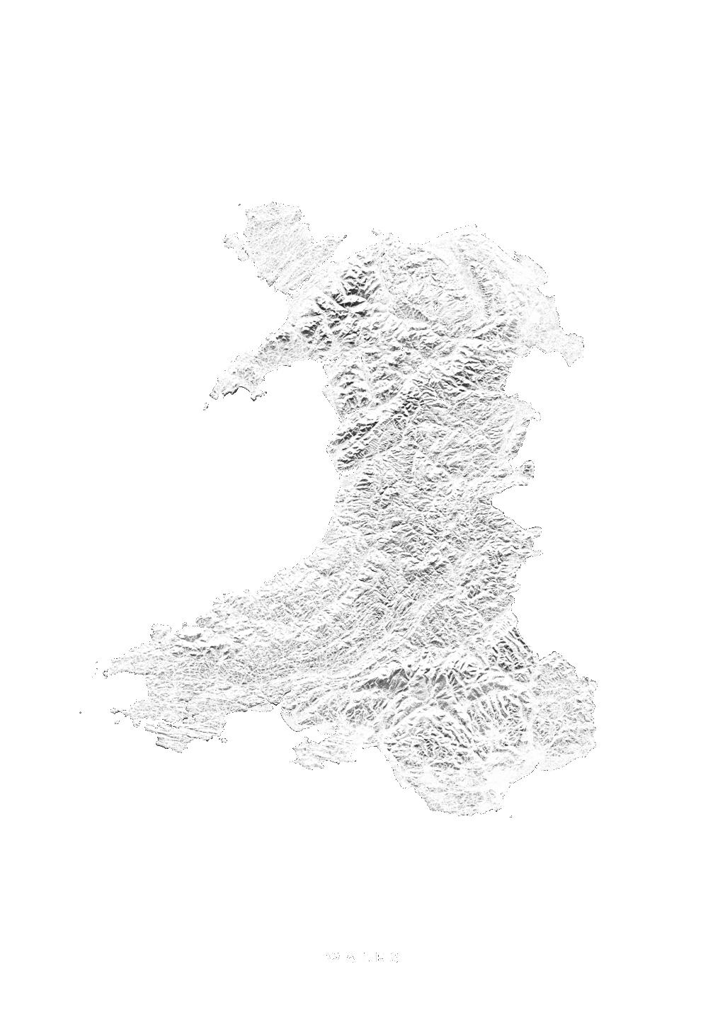 Wales wall map