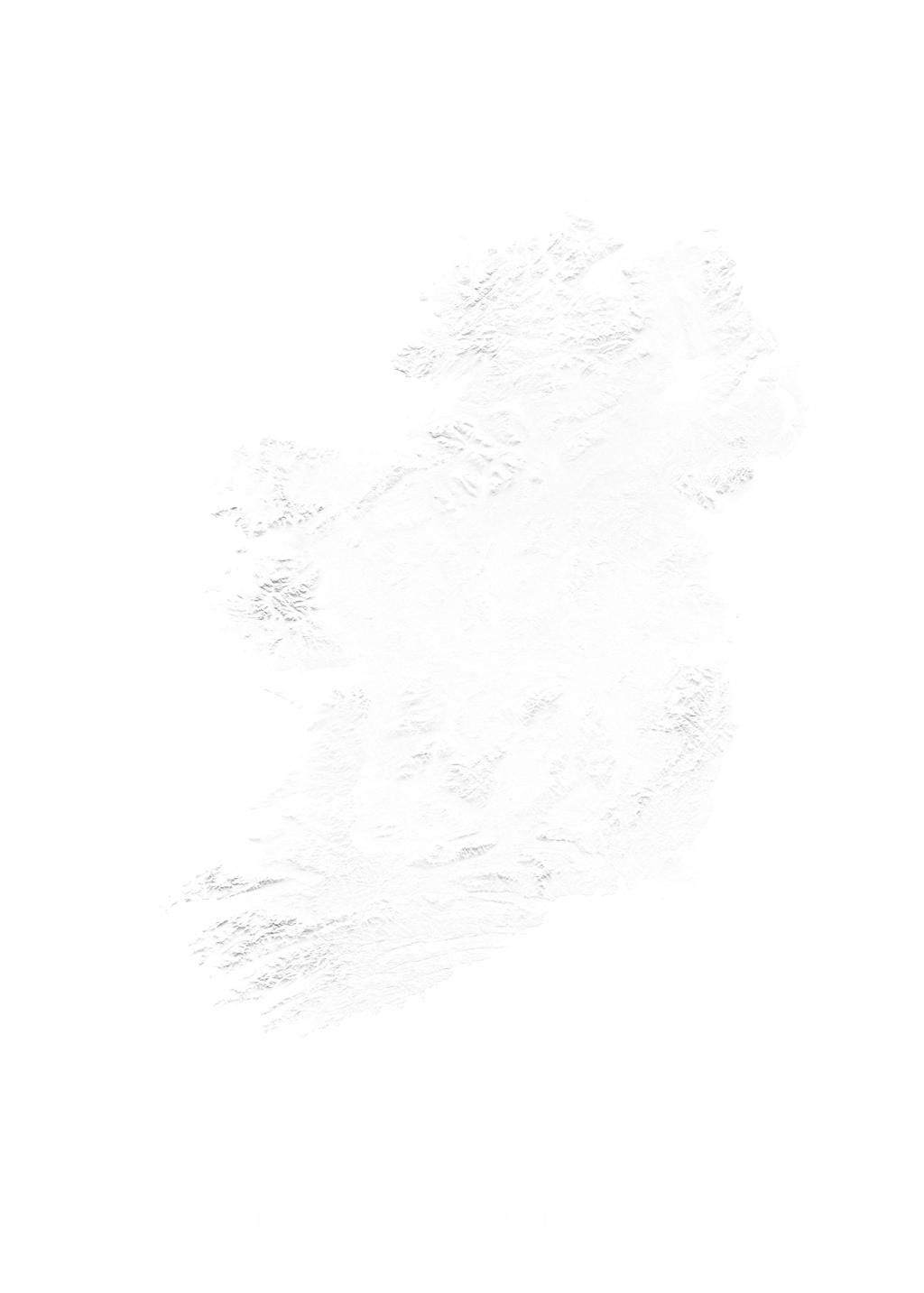 Ireland And Northern Ireland wall map