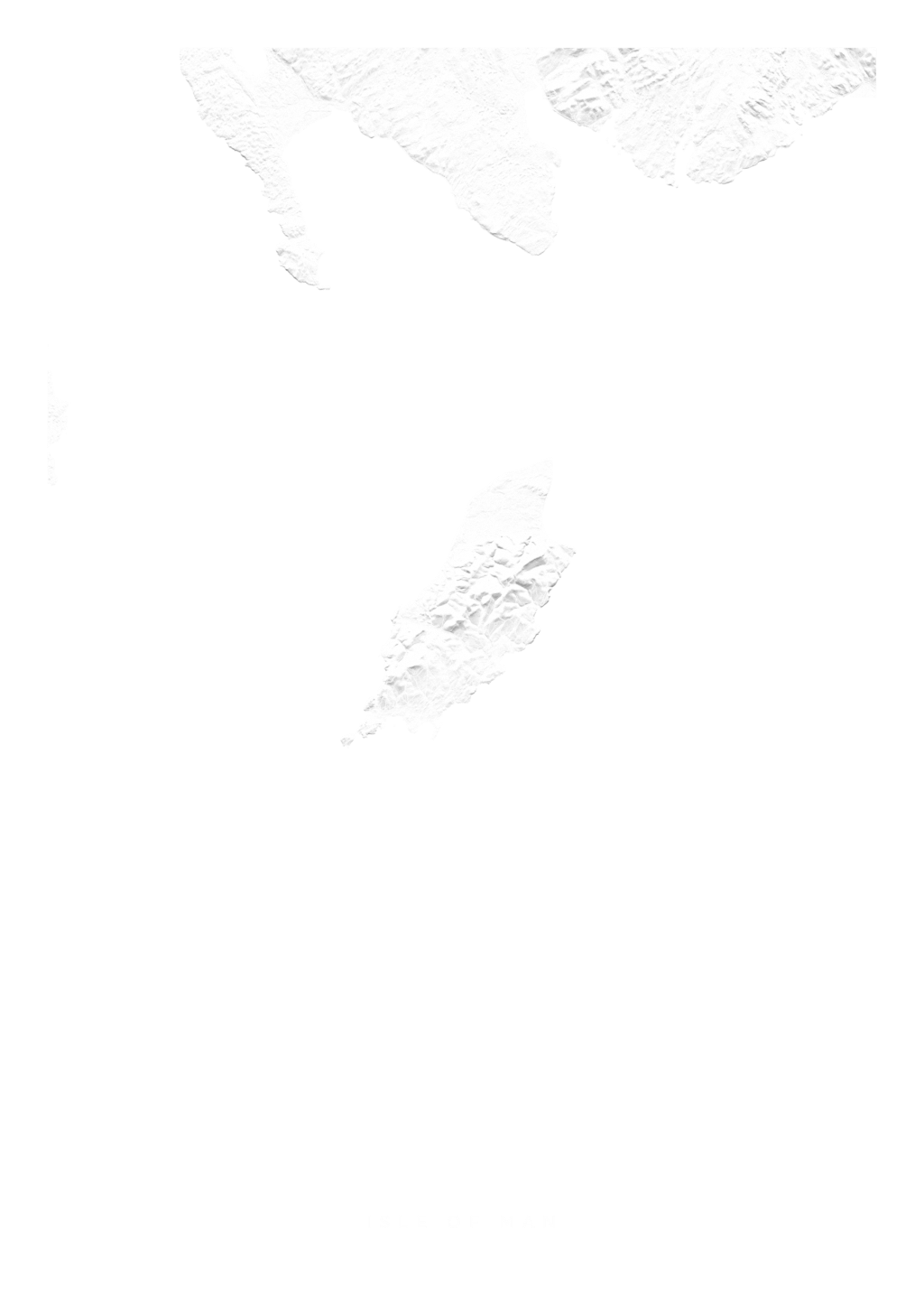 Isle Of Man wall map