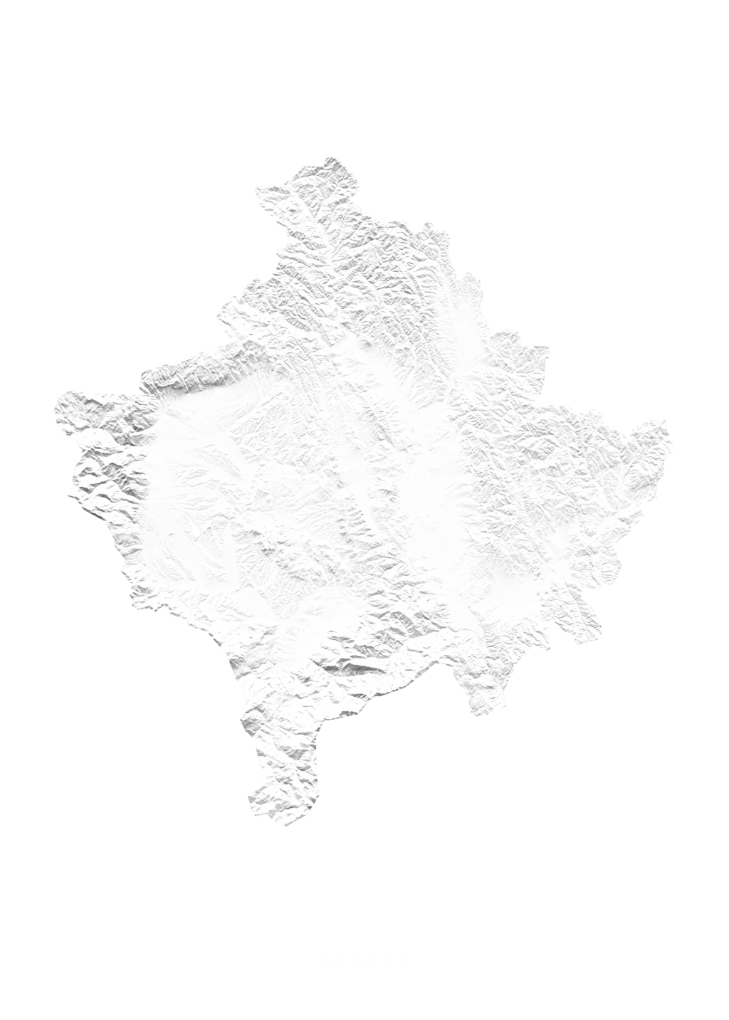 Kosovo wall map