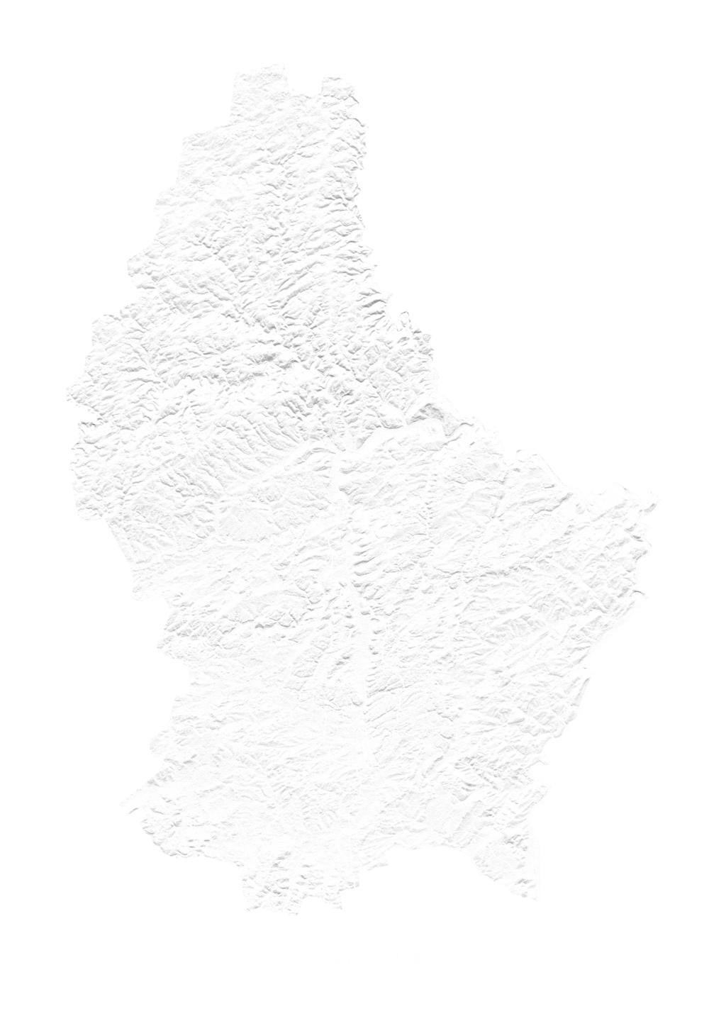 Luxembourg wall map