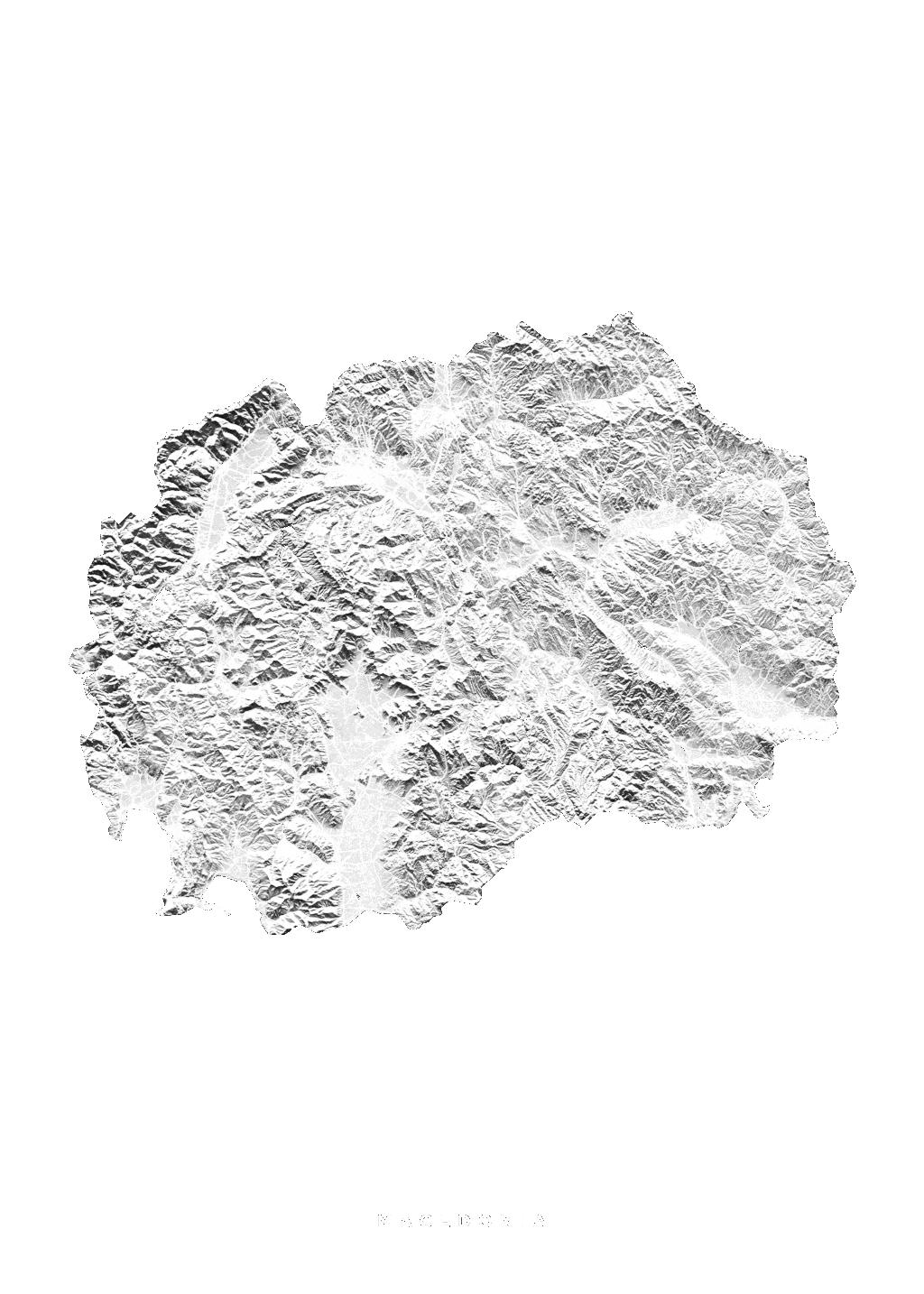 Macedonia wall map