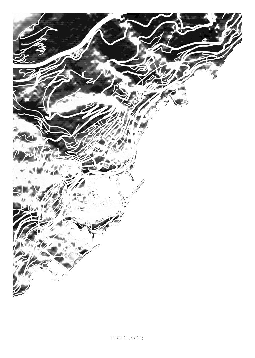 Monaco wall map