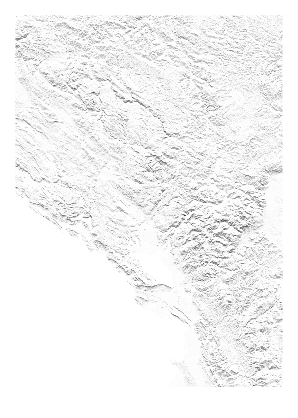 Montenegro wall map
