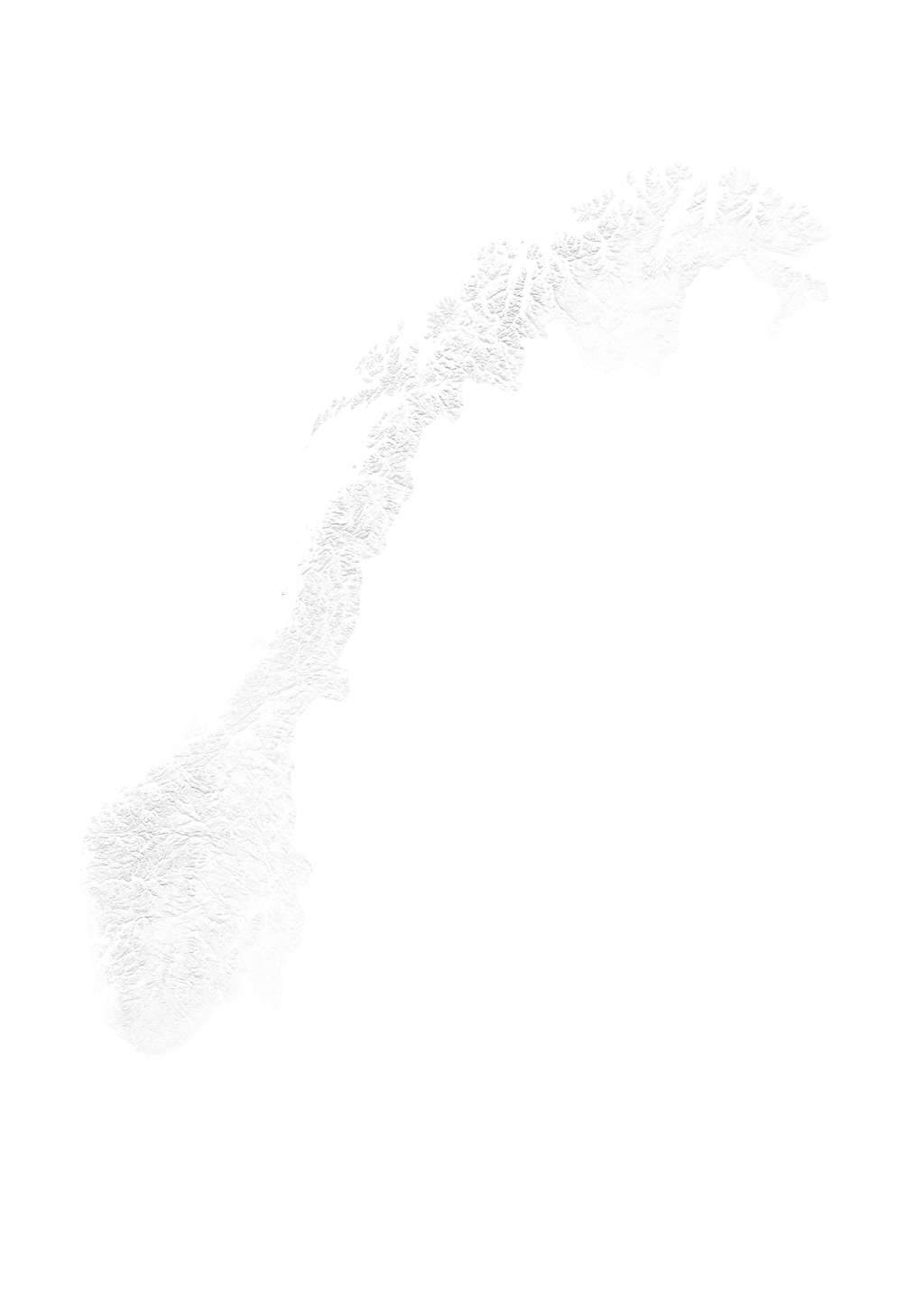 Norway wall map