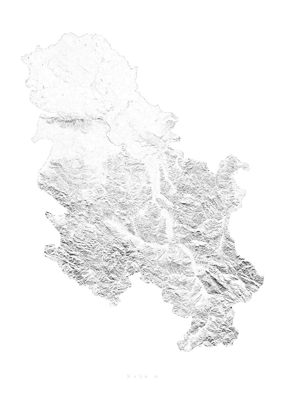 Serbia wall map