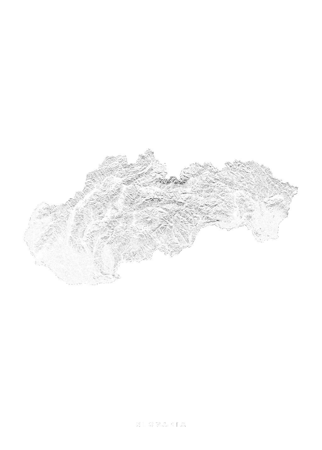 Slovakia wall map