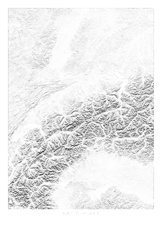 Switzerland wall map