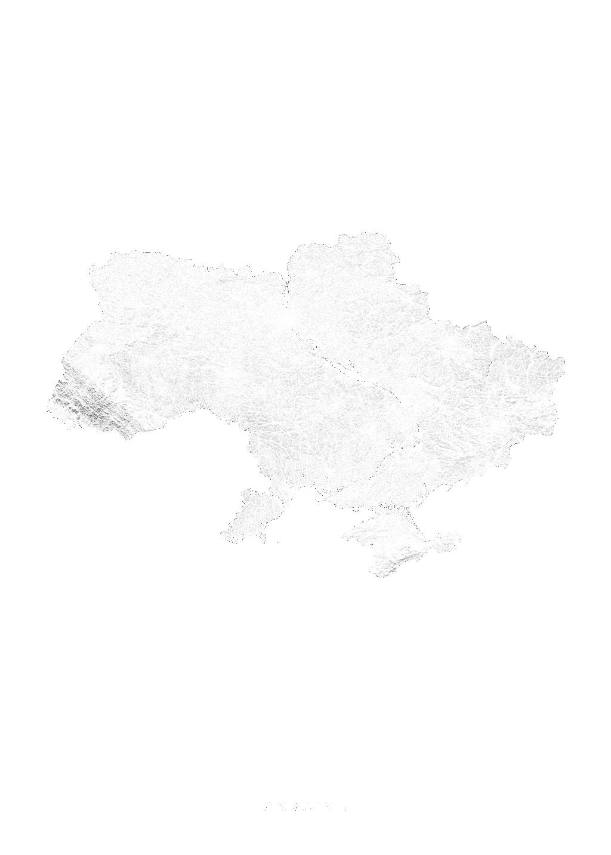 Ukraine wall map