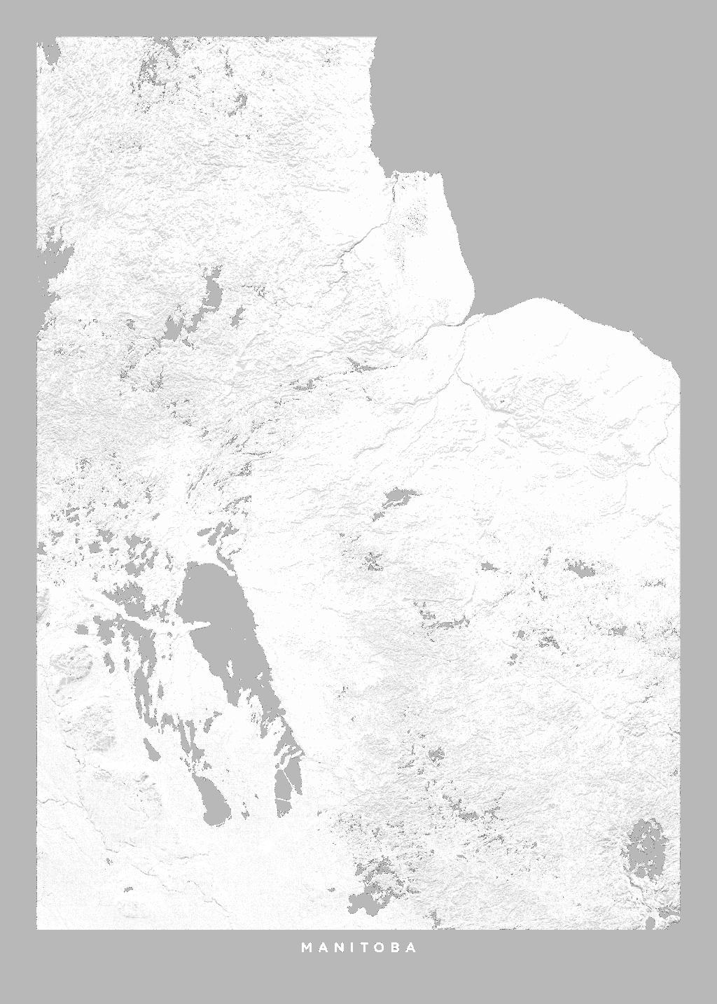 Manitoba wall map