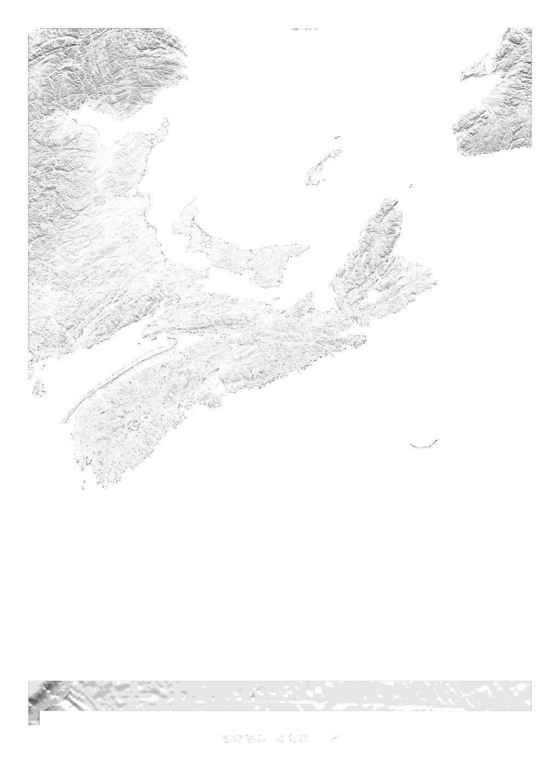 Nova Scotia wall map