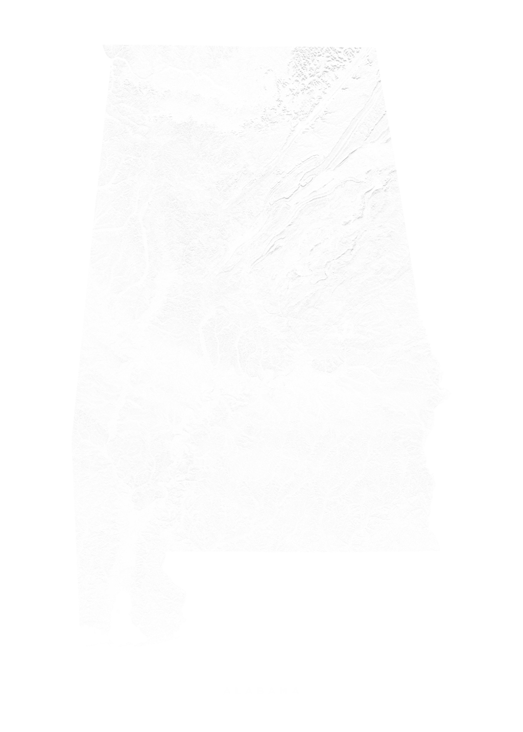 Alabama wall map