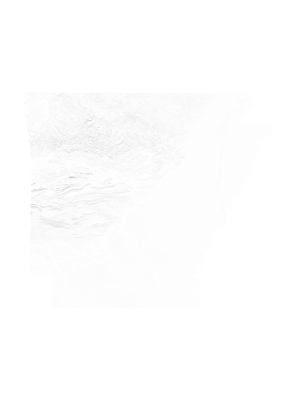 Arkansas wall map