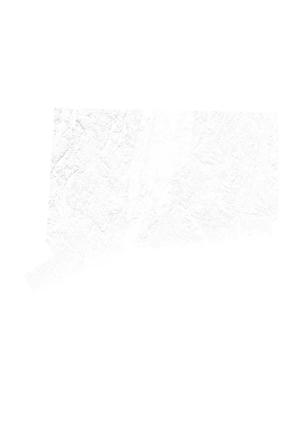 Connecticut wall map