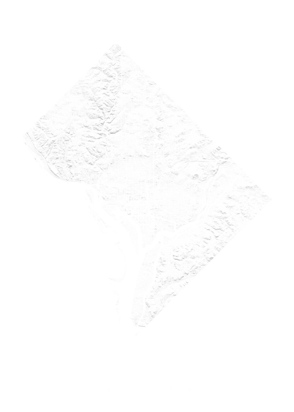 District Of Columbia wall map
